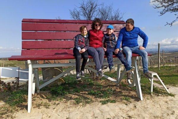 Rinaldi's family at the big bench