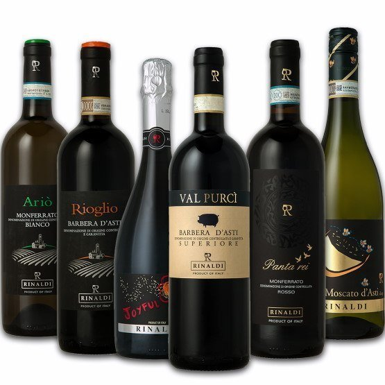 6 different wines from Piemont